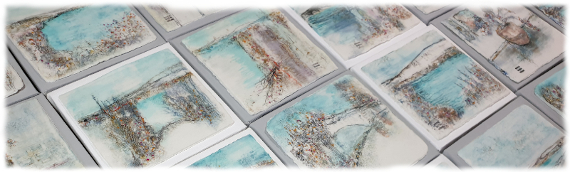 Porcelain Pictures mounted on canvas. Contemporary Wall Art.